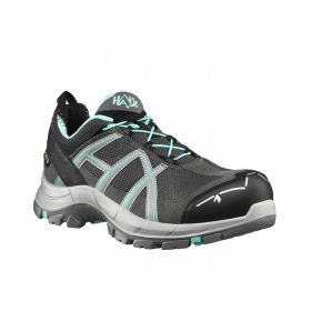 HAIX BLACK EAGLE Safety 40.1 Ws low grey-mint, S3 Sicherheitsschuh